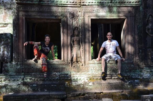 Auf den Spuren von Lara Croft erkunden wir die Tempel Anlage.