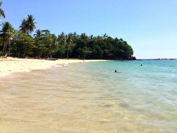 Weißer Sand und klares Wasser...